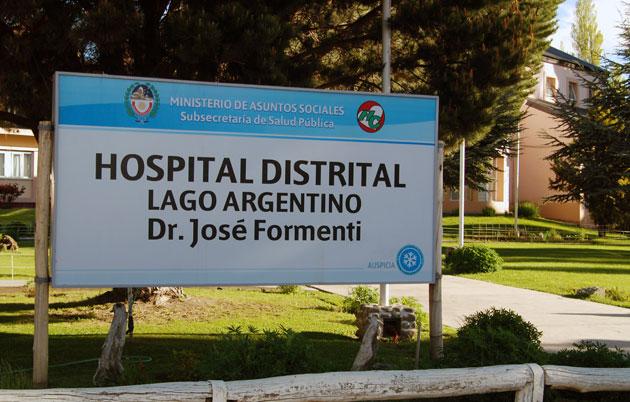 Hospital distrital Lago Argentino Dr. José Formenti – Foto: OPI Santa Cruz/Francisco Muñoz