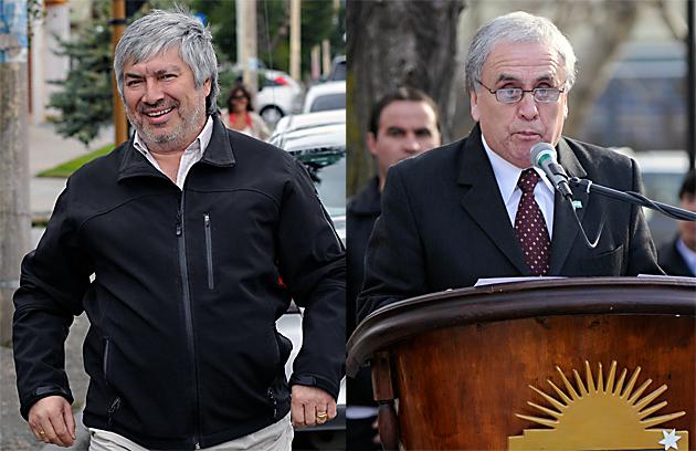El empresario Lázaro Báez y el Intendente Raúl Cantín - Foto: OPI Santa Cruz/Francisco Muñoz