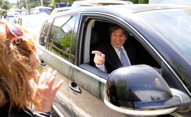 El Vice Presidente de la Nación Amado Boudou este mediodía en El Calafate - Foto: OPI Santa Cruz/Francisco Muñoz