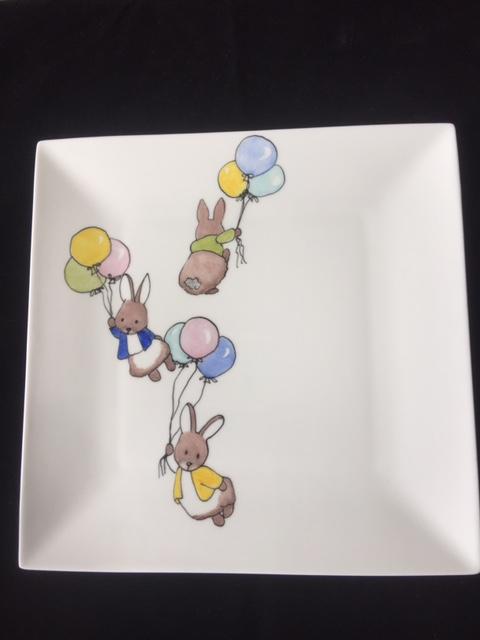 Bordje Konijntjes aan balonnetjes