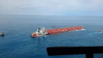 Navio-com-minério-encalhado-no-Maranhão-ameaça-envolver-a-Vale-em-nova-tragédia-ambiental-