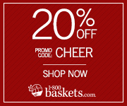 Enjoy 20% off Thanksgiving Baskets from 1800Baskets.com! Use promo code: THANKS20(Offer ends 11/27/2014)
