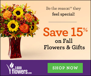 Save 15% on Fall Flowers and Gifts at 1800flowers.com and be the reason they...smile! Use Promo Code FLWRFFTN at checkout.