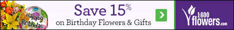 Save 15% on Birthday Flowers and Gifts at 1800flowers.com. Use Promo Code BRTHDYFFTN at checkout.