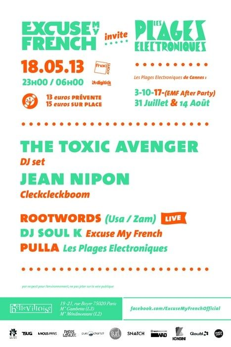 Excuse My French invite Les Plages Electroniques