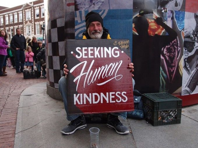 sign for the homeless