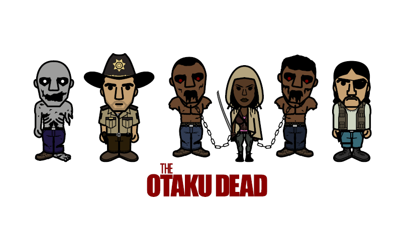 otaku-tshirt-walking-dead-geek