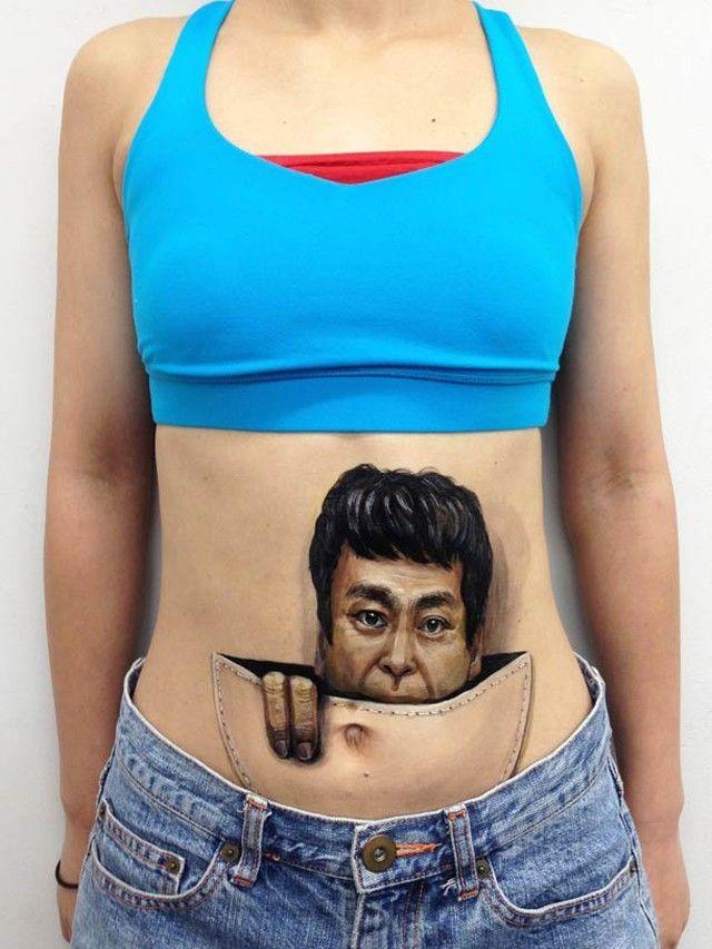 CHOOO-SAN-body-painting Hikaru Cho