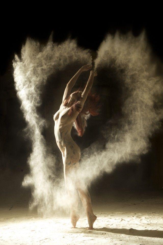 Danseur farine coeur