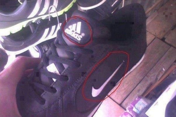Nike Adidas fail