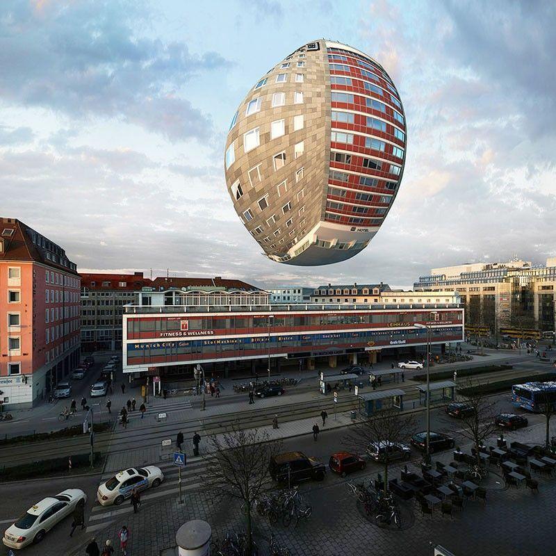 Photographie manipulation image immeuble