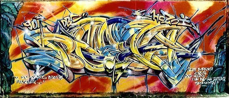 graffiti bears 1992 Colombes Pont de la puce
