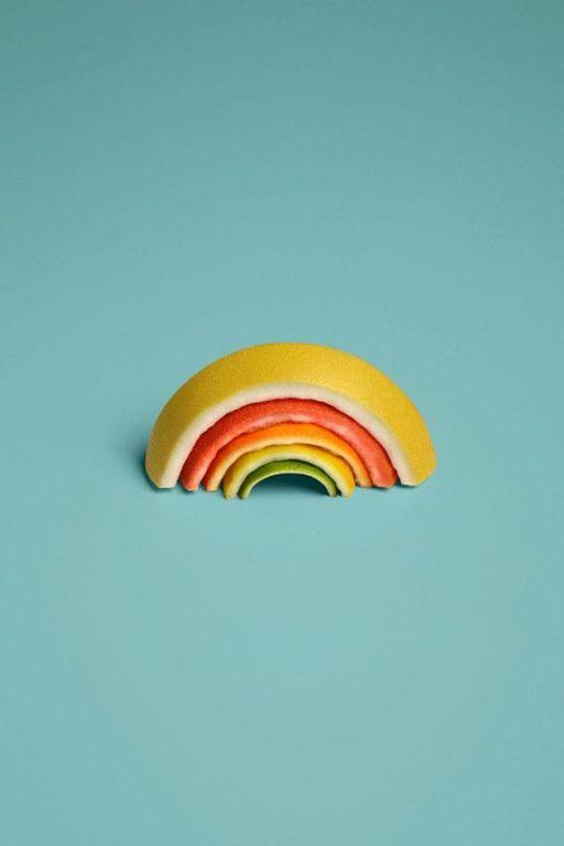 Sarah-Illenberger-Food-Art-arc en ciel