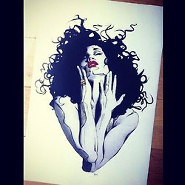 dessin cheveux-folie
