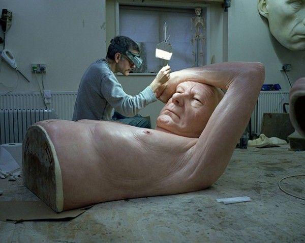 moitié du corps sculpture