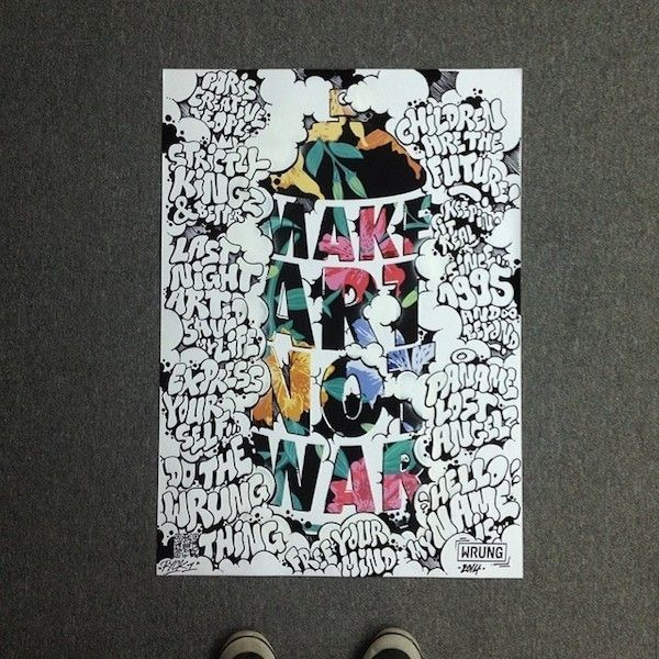 Création MAKE ART NOT WAR