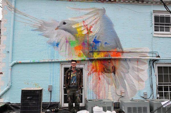 Street Art oiseau