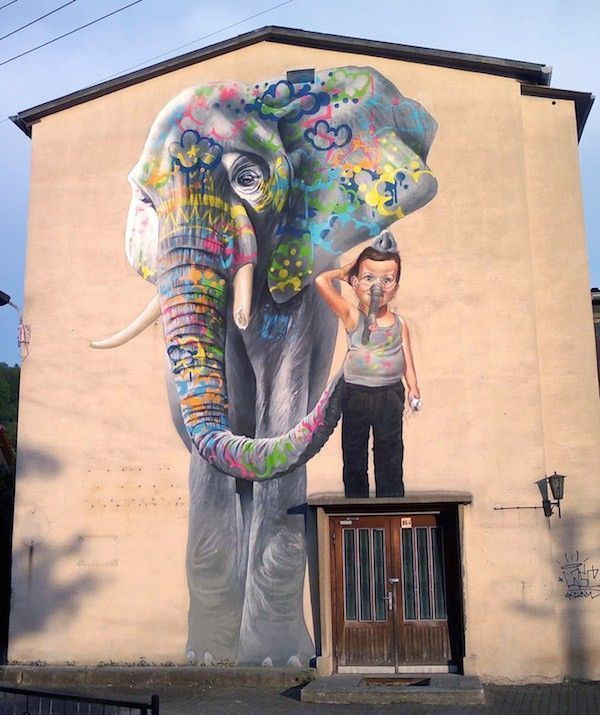 Street art Elephant