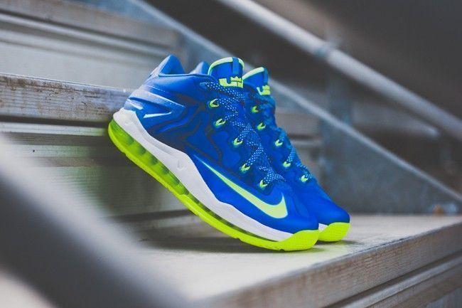 Nike-Lebron-11-Low-Photo-Blue-Lime-Sneaker-Politics