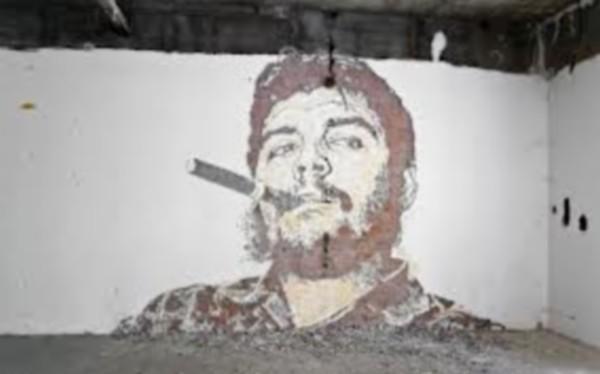 Vhils-Street-art-portrait-che-guevara