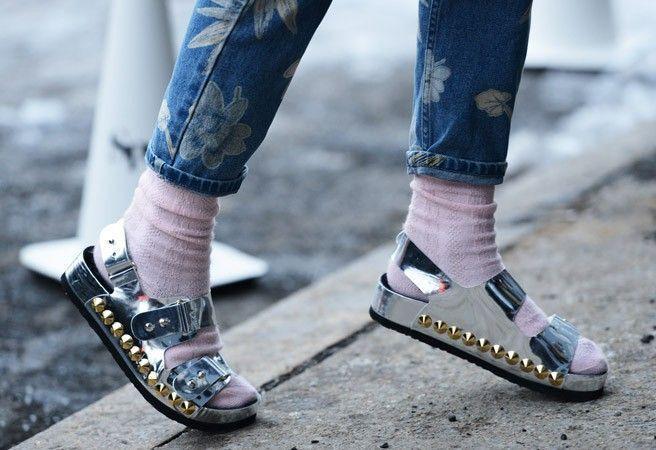 sandale Méduse birk chaussettes
