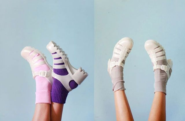 sandale Méduse chaussettes