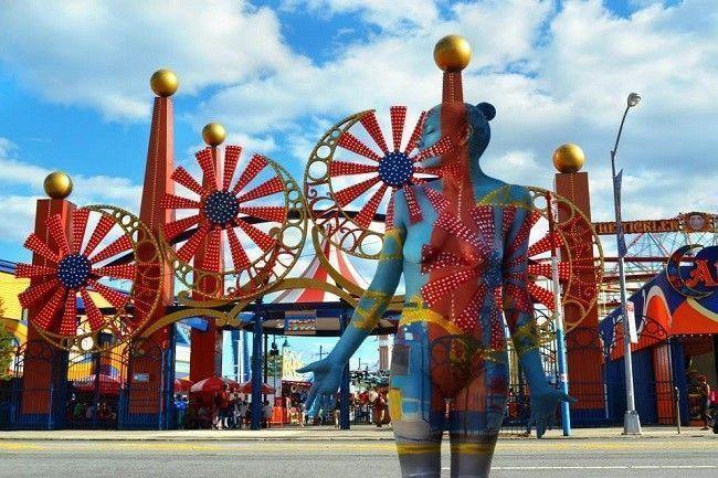 Trina-Merry-camouflage-Coney-Island