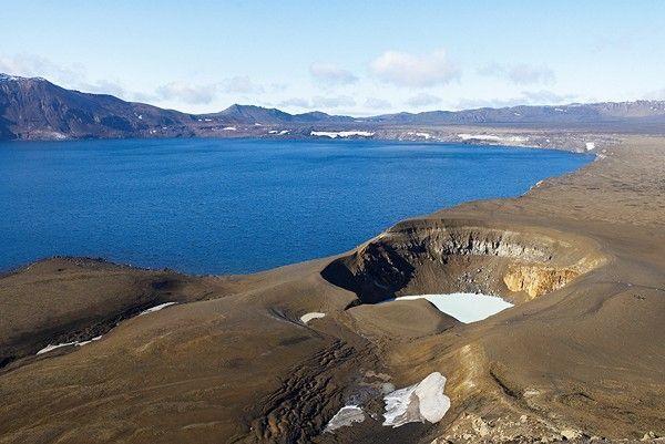Iceland. Viti crater at Askja.