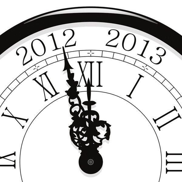 Nouvel an horloge à minuit