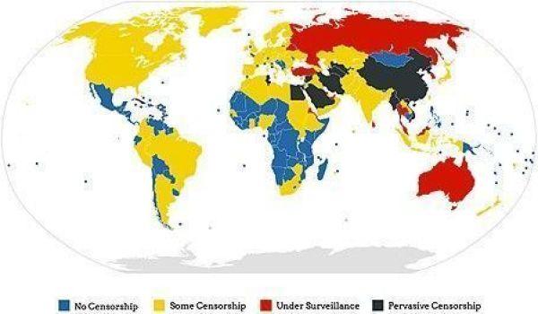 Carte censure internet