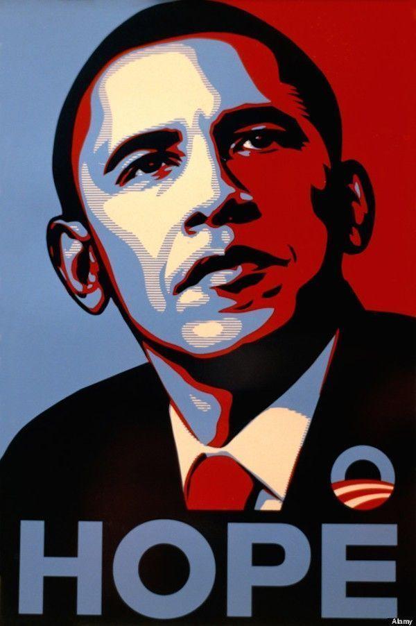 Shepard Fairey silkscreen print for USA Democrat President Barack Obama Obey Giant