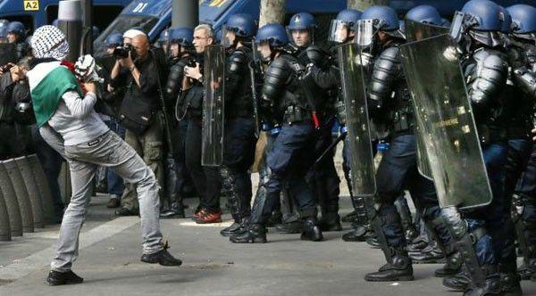 gendarmerie manif
