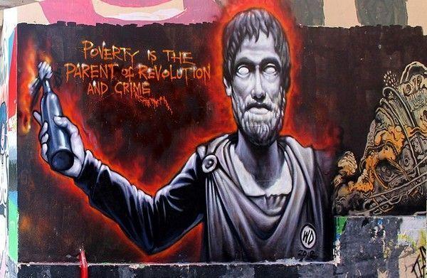 """Artiste : WD. """"La pauvreté est le parent de la révolution et du crime."""""""