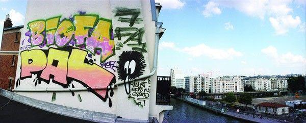 rooftop graffiti paris jean-yves donati