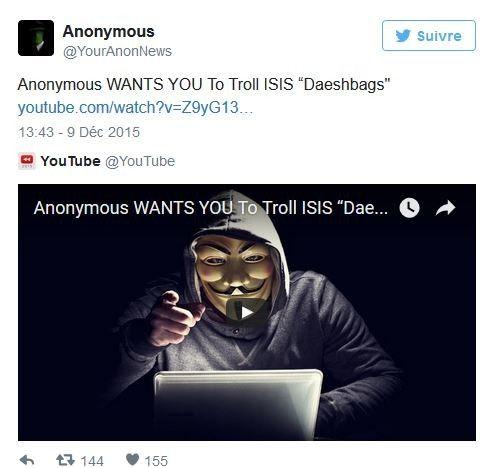 anonymous daech troll