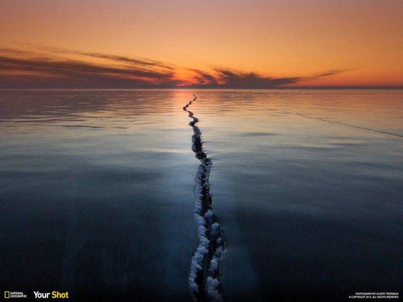 Lac Baïkal, Sibérie, Russie.