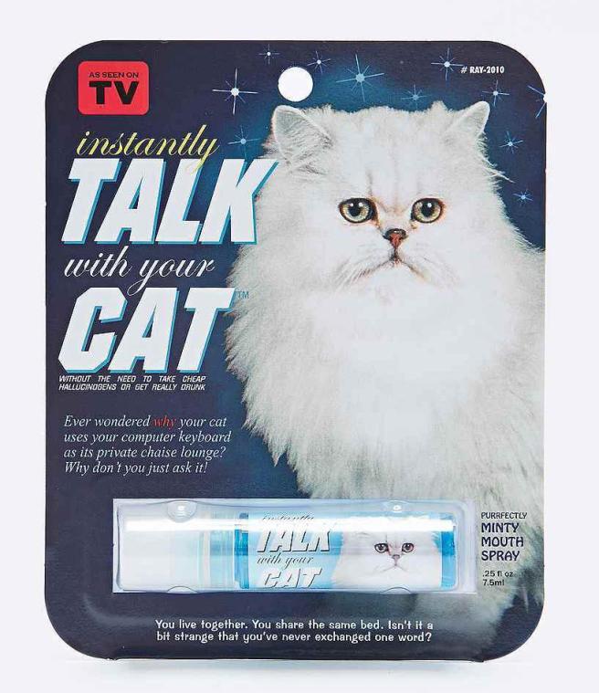 spray pour parler au chat