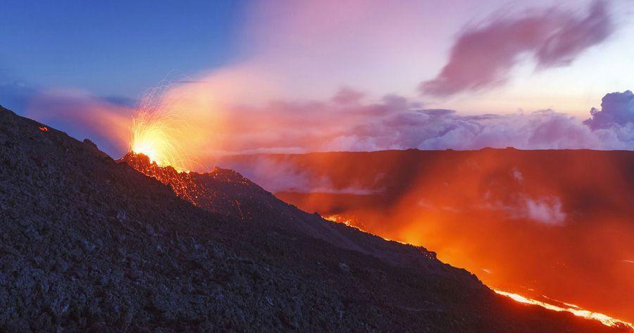volcan piton de la fournaise