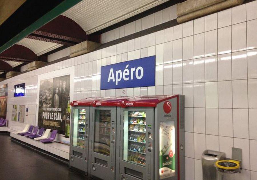 apéro métro parisien