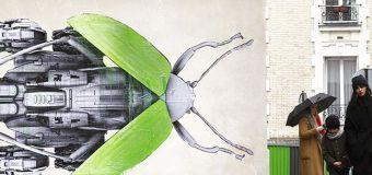 Le vert acide du street artiste Ludo injecté sur les murs de Paris