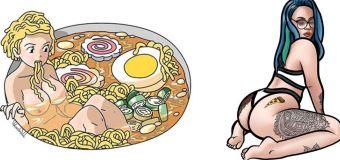 Blacknall Illustration : «Je combine la nourriture et l'intimité féminine»