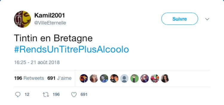 #RendsUnTitrePlusAlcoolo
