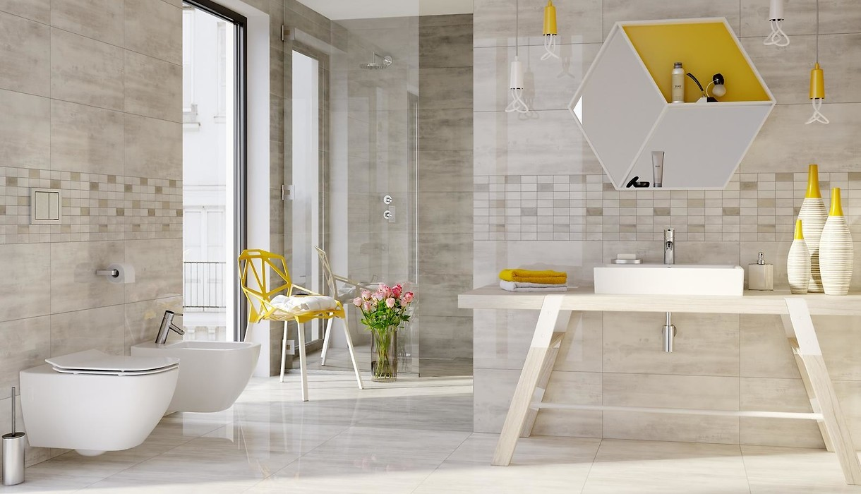 Tiles FLOORWOOD white  Collections  Opoczno Ceramic Tiles