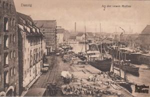 Nad Nową Motławą - front pocztówki