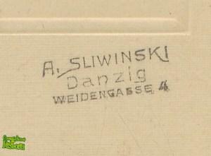 Antoni Śliwiński - pieczątka pod fotografią