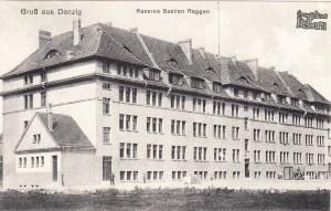 Koszary na Bastionu Ogrodowym - awers pocztówki z 1902 r.