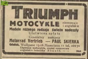 Triumph z ulicy Wałowej