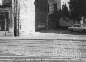Miejsce po wyburzonymm budynku przy ulicy Łąkowej 53. 1981 r.