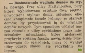 Zmiany na ulicy Szopy w 1927 r.
