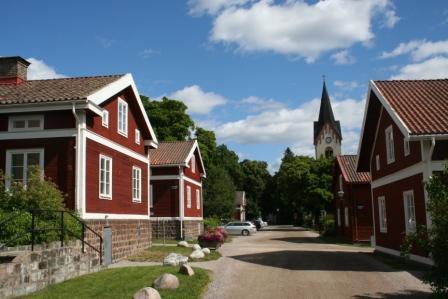 Avesta: lekker lopen langs de Dalälven rivier in Dalarna